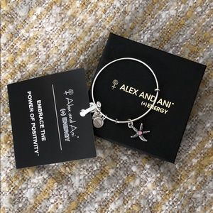 NIB Alex and Ani starfish bracelet with pink gem
